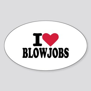 Blowjob Sticker (Oval)